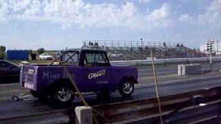 International Scout Wheelie! Drag racing.  6.88@99mph