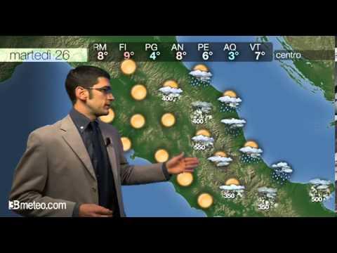 Previsioni meteo Video per martedi, 26 novembre