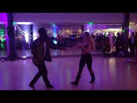 UKDC - Xmas Party - Sarve & Ekow (WCS freestyle) - video by Zouk Soul