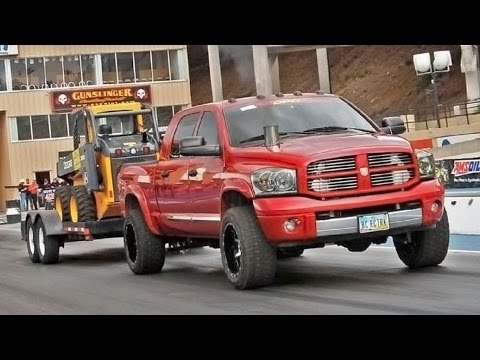 1/8 Mile Trailer Tow - Day 3 of Diesel Power Challenge 2014!