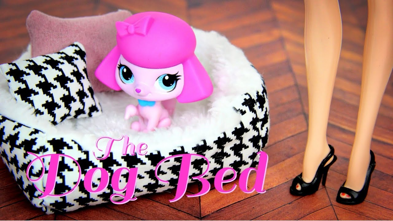 How To Make A Doll S Dog Bed Doll Crafts Youtube