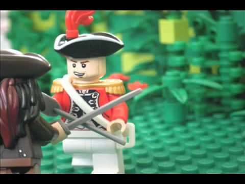 lego pirates of the caribbean Jack Sparrow vs King Georges officer