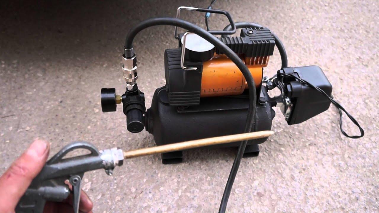 Сделать компрессор из огнетушителя