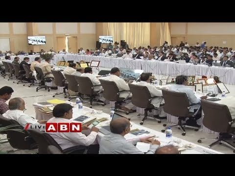 AP CM Chandrababu Hold Meeting with Collectors In Undavalli | ABN Telugu