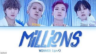 Download Song WINNER (위너) - 'MILLIONS' LYRICS [HAN|ROM|ENG COLOR CODED] 가사 Free StafaMp3