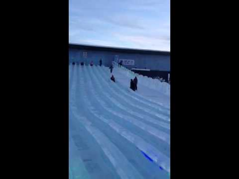 Scarlett and mom sledding at ice park2