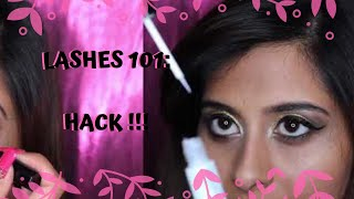 LASHES 101 : EASY way to apply lashes | Eyelash Application HACK | Chermel's World