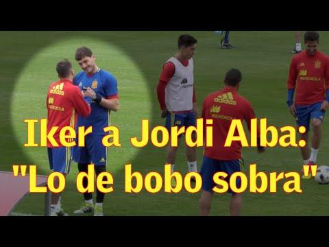 "Iker Casillas avisa a Jordi Alba: ""Lo de bobo sobra, ¿eh?"""