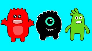 Learning Simple Colors with Monsters Learn Basic Colors Red Yellow Blue