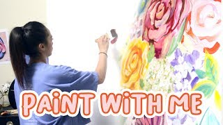 PAINT WITH ME  |  Floral Acrylic Painting