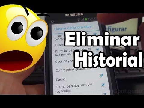 como eliminar historial navegador android samsung Galaxy s3 mini i8190 español Full HD