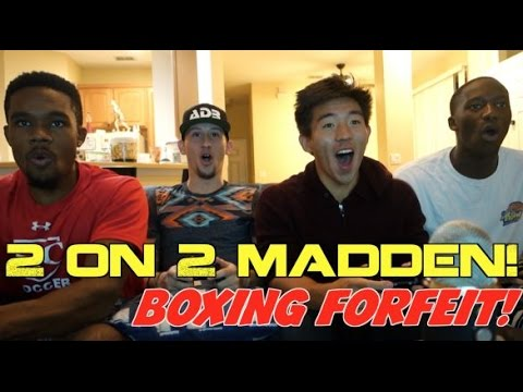 2 ON 2 MADDEN! SUPER CRAZY GAME! BOXING FORFEIT!? MADDEN 17