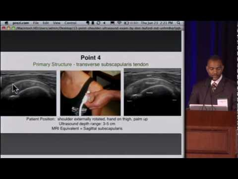 Dr. Don Buford 13 Point Shoulder Ultrasound Exam Lecture video
