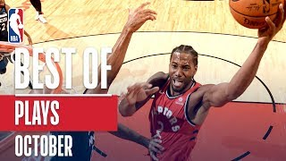 NBAs Best Plays | October 2018-19 NBA Season