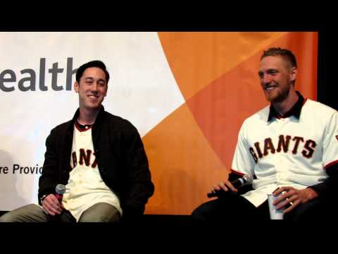 Hunter Pence and Tim Lincecum Impressions of Each Other During 2013 SF Giants Fan Fest