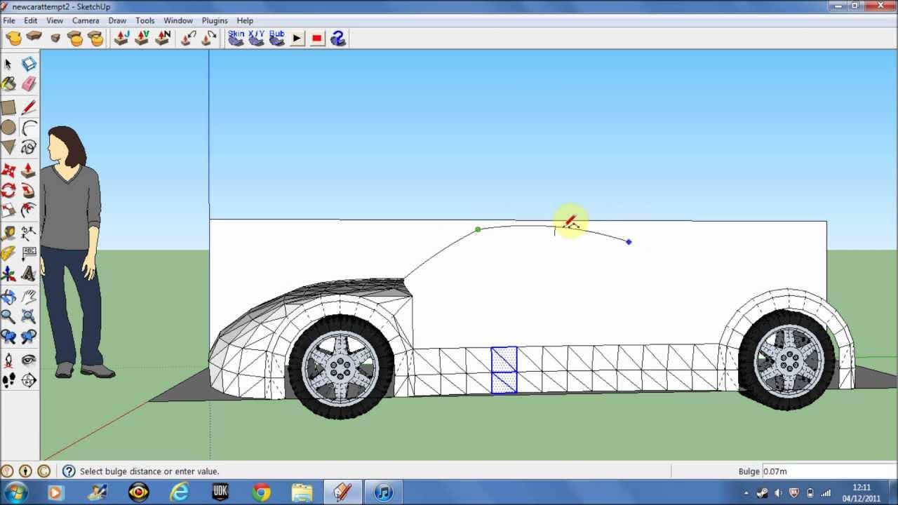 making a car in google sketchup 8 pt1 youtube. Black Bedroom Furniture Sets. Home Design Ideas