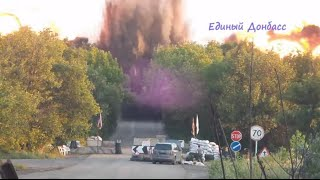RAW: Massive explosion destroys Road Bridge paralyzing traffic in Eastern Ukraine
