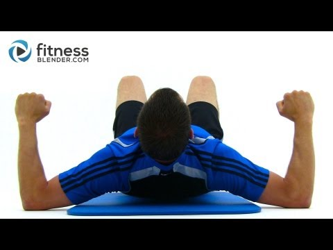 Brutal 35 Minute Bodyweight Workout - Fitness Blender Functional Strength Training Image 1