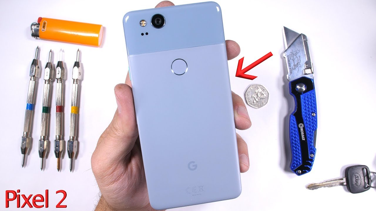 """Google Pixel 2 will go down in the history books for many things, but perhaps not for its durability. According to Zack Nielson of popular gadget-centric YouTube channel JerryRigEverything, the Pixel 2's """"premium coating"""" is anything but reliable.Putting the Google Pixel 2 through his usual stress treatment, Zack found that it was fairly easy to scratch off the plastic coating that protects the metal build of the Pixel 2. Google's new flagship smartphone has a metal body but there is also this plastic coating on top of it. Zack was able to get the plastic off by using an ordinary razor blade.Earlier this week, folks at iFixit found that Google was using a magnesium mid-frame to provide """"solid backing behind the display for when you're candy crushing it."""" But it turns out, the device is not as strong as one would have imagined. Nielson found that a desperate attempt at deforming the phone is enough to bend much of the handset in half.As for other components, the displ.."""