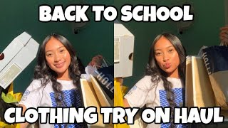 BACK TO SCHOOL TRY ON CLOTHING HAUL 2018-19