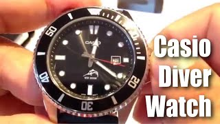 Casio MDV106-1A Stainless Steel Divers Watch with rubber band review