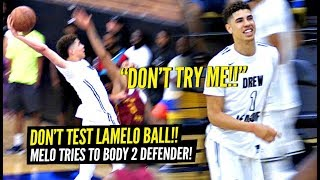 LaMelo Ball Gets TESTED & RESPONDS By Trying to BODY 2 DEFENDERS & Triple Double w/ STEALS!!??