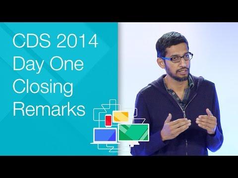 Day One Closing Remarks - Chrome Dev Summit 2014 (Sundar Pichai)
