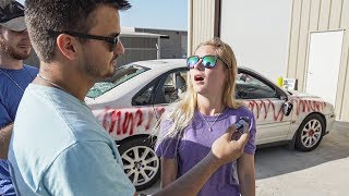 Destroying My Girlfriend's Car and Surprising Her With a New One!