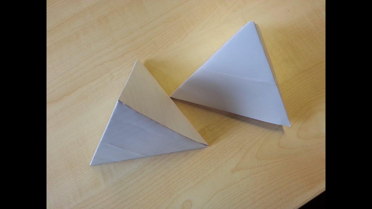 schnell und ganz einfach eine pyramide aus papier youtube. Black Bedroom Furniture Sets. Home Design Ideas