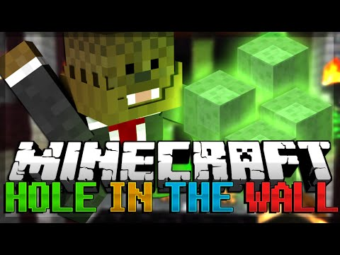 WACKY WALLS Minecraft 1.8 (Snapshot) Hole in the Wall Minigame