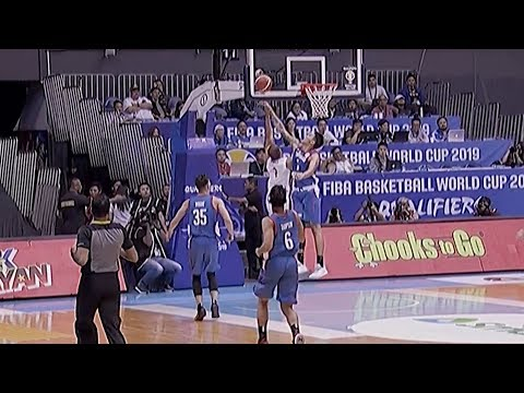 Erram with the recovery block | FIBA World Cup 2019 Asian Qualifiers