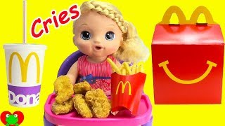 Baby Alive Sweet Tears Cries and Eats McDonald