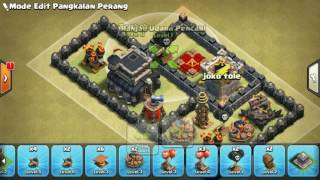 The strongest war base: Base war TH 9 terkuat (replay attact) Juni 2017 - tipe 49