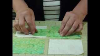 "3-Dimensional Bow Tie Block using 5"" squares - Quilting Tips & Techniques 042"