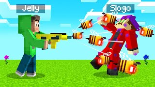 We Found A BEE SHOOTING GUN In MINECRAFT! (Insane)