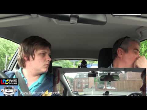 Dean's 3rd driving lesson with Bob