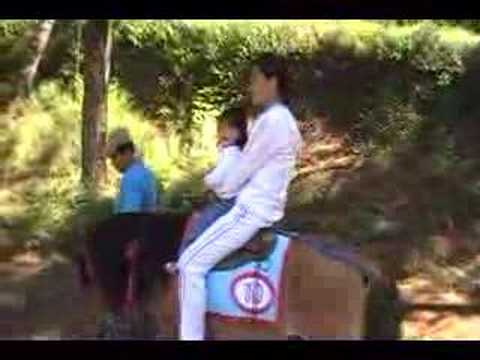 The girls riding horses in Baguio