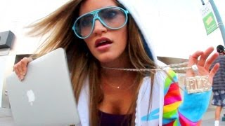 iJustine canta Mac City, parodiando a Rack City de Tyga