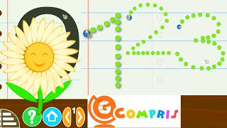 GCompris Draw Numbers From 0 to 10 | Child's Play Free Educational games on GNU / Linux to Kids play