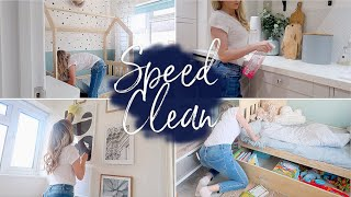 SPEED CLEAN | SPRING CLEAN MY HOUSE WITH ME