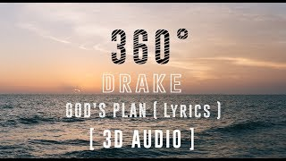 Download lagu Drake -  God's Plan [360°Lyric Video HD] 3D Binaural Audio |