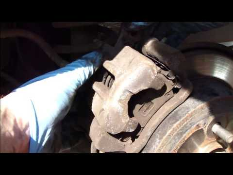 How to change rear brake pads Toyota Corolla. Years 2002-200