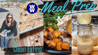 WEEKLY MYWW MEAL PREP| OVERNIGHT VANILLA QUINOA| ORANGE CHICKEN BOWL| OAT BARS| WEIGHT WATCHERS!