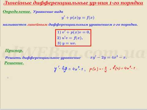 Видеоурок Линейные уравнения - видео