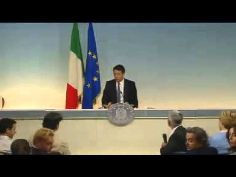Elezioni Europee 2014 successo PD Conferenza Stampa Matteo Renzi