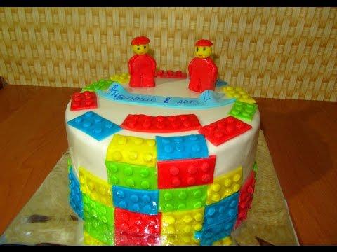 Как сделать тортик из лего