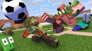 Monster School : FIFA FOOTBALL ZOMBIE APOCALYPSE Challenge - Minecraft Animation