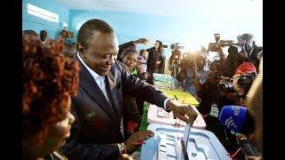 President Uhuru Kenyatta calls for peace as he votes in Gatundu, Kiambu county