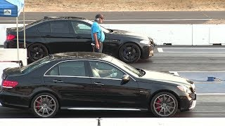 BMW m5 vs AMG V8 Biturbo Mercedes -drag race
