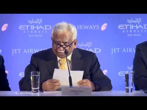 Jet Airways and Etihad Airways Press Conference, Mumbai -11 August 2014